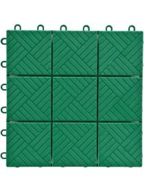 Садовое напольное покрытие «Модуль» (упаковка 1 м², размер 30×30 см, зелёный)