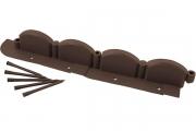 Декоративный бордюр «Волна» (9 × 256 см, коричневый)