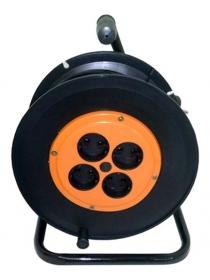Удлинитель силовой 50 м на катушке (2 × 0,75 мм², 4 розетки)