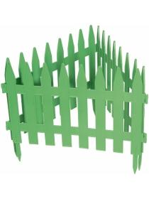Декоративное ограждение «Рейка» (0,28 × 3 м, зелёный)