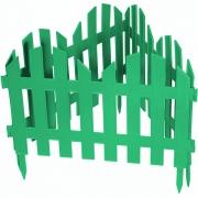 Декоративное ограждение «Романтика» (0,28 × 3 м, зелёный)