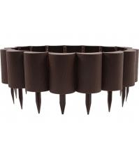 Декоративный бордюр «Пеньки» БП-15/1,6 (15 × 160 см, коричневый)