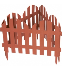 Декоративное ограждение «Романтика» (0,28 × 3 м, терракотовый)