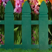 Декоративное ограждение «Штакетник» (0,55 × 2 м, зелёный)