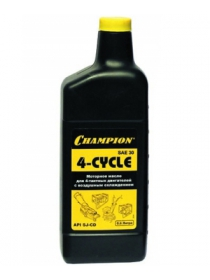 Масло CHAMPION SAE30 для 4-тактных двигателей (0,6 л)