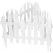 Декоративное ограждение «Романтика» (0,28 × 3 м, белый)