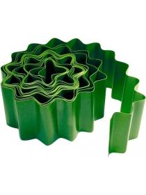 Бордюрная лента PALISAD 15 × 900 см (гофрированная, зелёная)