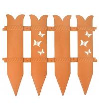 Декоративное ограждение «Бабочка» (0,36 × 2,4 м, терракотовый)