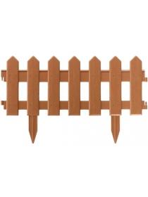 Декоративное ограждение «Палисадник» (0,2 × 1,9 м, коричневый)