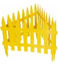 Декоративное ограждение «Рейка» (0,28 × 3 м, жёлтый)