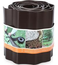 Бордюрная лента ПРОТЭКТ Б-20/9 (20 × 900 см, гофрированная, коричневая)