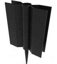 Шарнирный стыковочный элемент ПРОТЭКТ СЭ-150 (150 × 25 мм, чёрный)