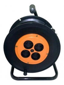 Удлинитель силовой 40 м на катушке (2 × 2,5 мм², 4 розетки)