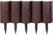Декоративное ограждение «Садовый конструктор» (0,21 × 3 м, коричневый)