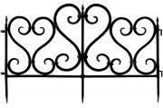 Декоративное ограждение «Ажурное» (0,25 × 3 м, чёрный)