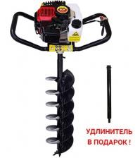 Мотобур PROBUR 250 + шнек для почвы 150 мм + удлинитель 500 мм