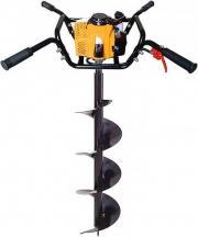 Мотобур IRON MOLE E73 Twin + шнек для почвы 300 мм