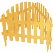 Декоративное ограждение «Винтаж» (0,28 × 3 м, жёлтый)