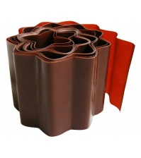 Бордюрная лента PALISAD 10 × 900 см (гофрированная, коричневая)