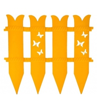 Декоративное ограждение «Бабочка» (0,36 × 2,4 м, жёлтый)