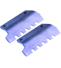 Ножи для льда FISHTOOL Barracuda 250 мм (прямые зубчатые, комплект 2 шт.)