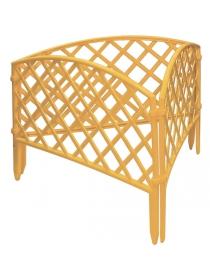 Декоративное ограждение «Сетка» (0,24 × 3,2 м, жёлтый)