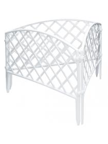 Декоративное ограждение «Сетка» (0,24 × 3,2 м, белый)