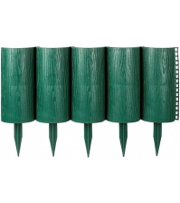 Декоративное ограждение «Садовый конструктор» (0,21 × 3 м, зелёный)