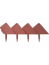 Декоративный бордюр «Кирпич» (0,13 × 3 м, терракотовый)