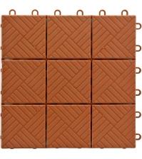 Садовое напольное покрытие «Модуль» (упаковка 1 м², размер 30×30 см, терракотовый)