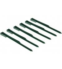 Колышки садовые пластиковые ПРОТЭКТ К-295/6 (295 мм, хаки, 6 шт)