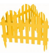 Декоративное ограждение «Романтика» (0,28 × 3 м, жёлтый)