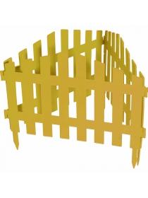 Декоративное ограждение «Марокко» (0,28 × 3 м, жёлтый)