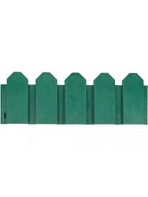 Декоративное ограждение «Дачник» (0,18 × 3 м, зелёный)